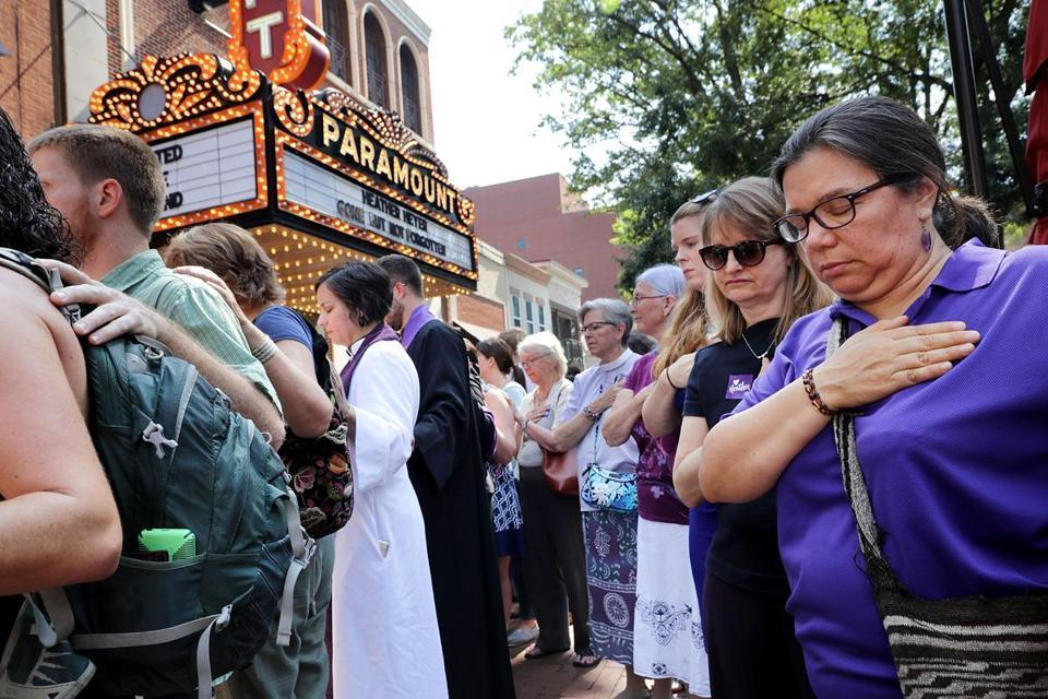 Mourners at service honor Heather Heyer, who was killed at Virginia rally