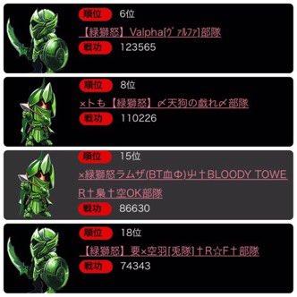 ☆Rabbit's Foot☆  交流戦<2017.7.28(金)>赤獅怒と蒼さん胡桃さんのお見送りという事で緑国側は『