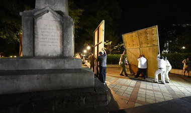 Stacy George files ethics complaint against Mayor Bell over monument cover