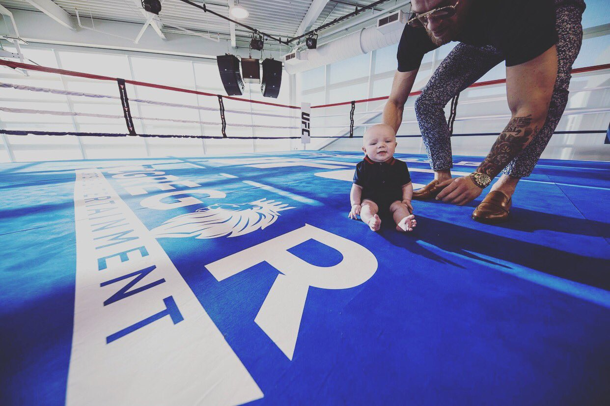 Playing in the boxing ring with my son.  Life is good! https://t.co/D6woZYmpMO