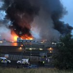 Huge fire breaks out at Glasgow fruit market with smoke billowing over the city