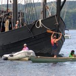 Native Americans protest Christopher Columbus replica ships