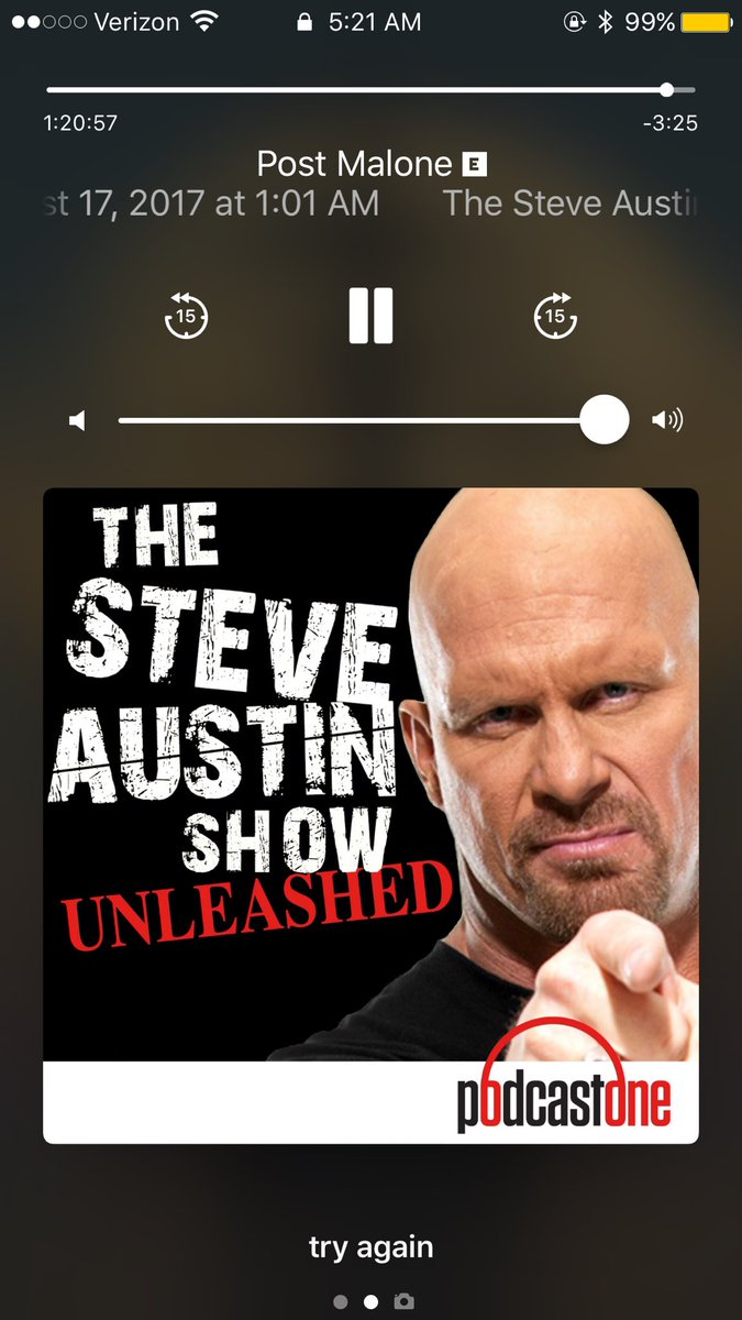 RT @MiddleAgedComet: @steveaustinBSR great podcast with @PostMalone loved it