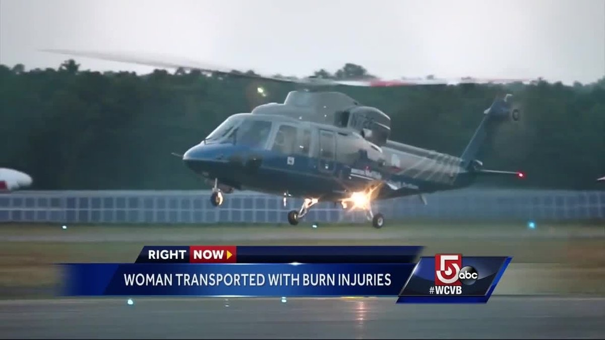 Woman flown to Boston hospital after suffering serious burns on Cape