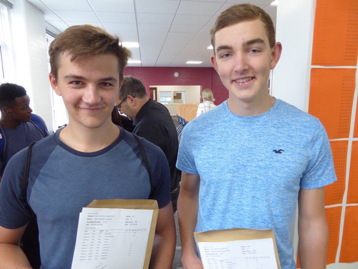 test Twitter Media - Daniel Loughran and Alex Wilson both got A*A*A*A* in their A levels results. It doesn't get better than that. Well done both. Outstanding! https://t.co/Kyqir3pHkZ