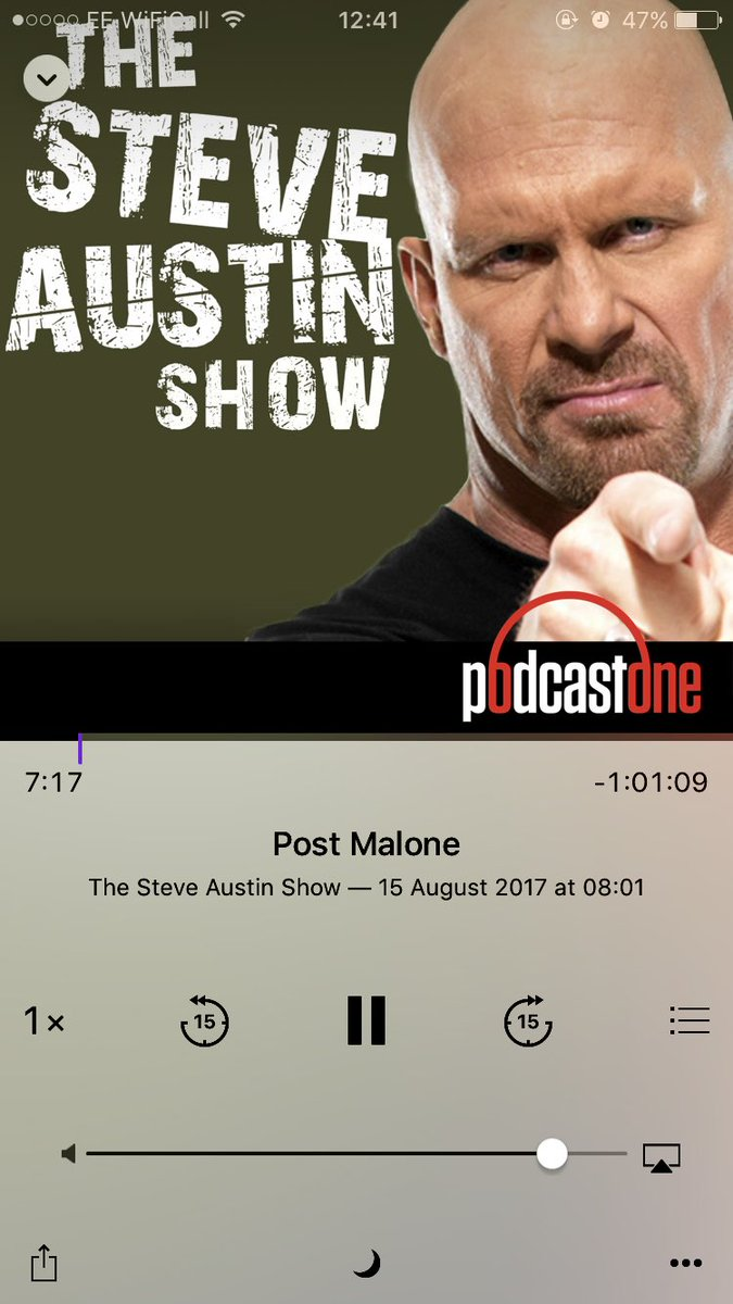 RT @MrFrantastic11: My favorite wrestler of all time @steveaustinBSR and motherfu*king @PostMalone 🙌   Two GREAT episodes out now!   #Steve…