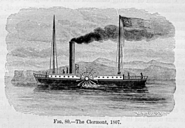 17AUG1807: #CivilEngineer #RobertFulton launches the Clermont up #HudsonRiver, ushering steam navigation as regular means of #transportation https://t.co/NoOXhuASZd