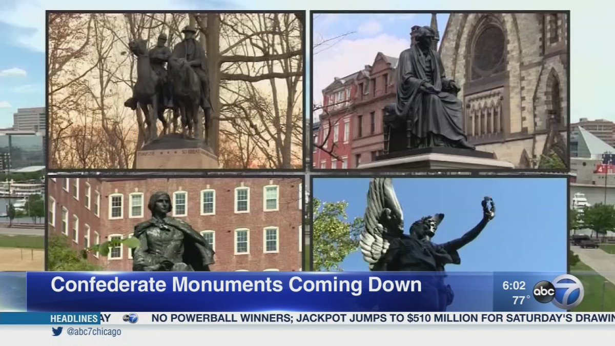 Push to remove confederate monuments renewed after Charlottesville violence