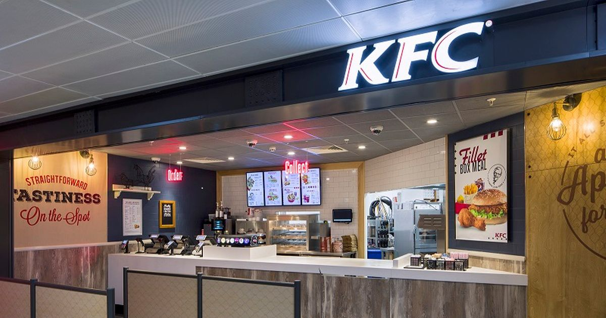 KFC opens first UK airport restaurant at Manchester Airport - serving chicken from 4am