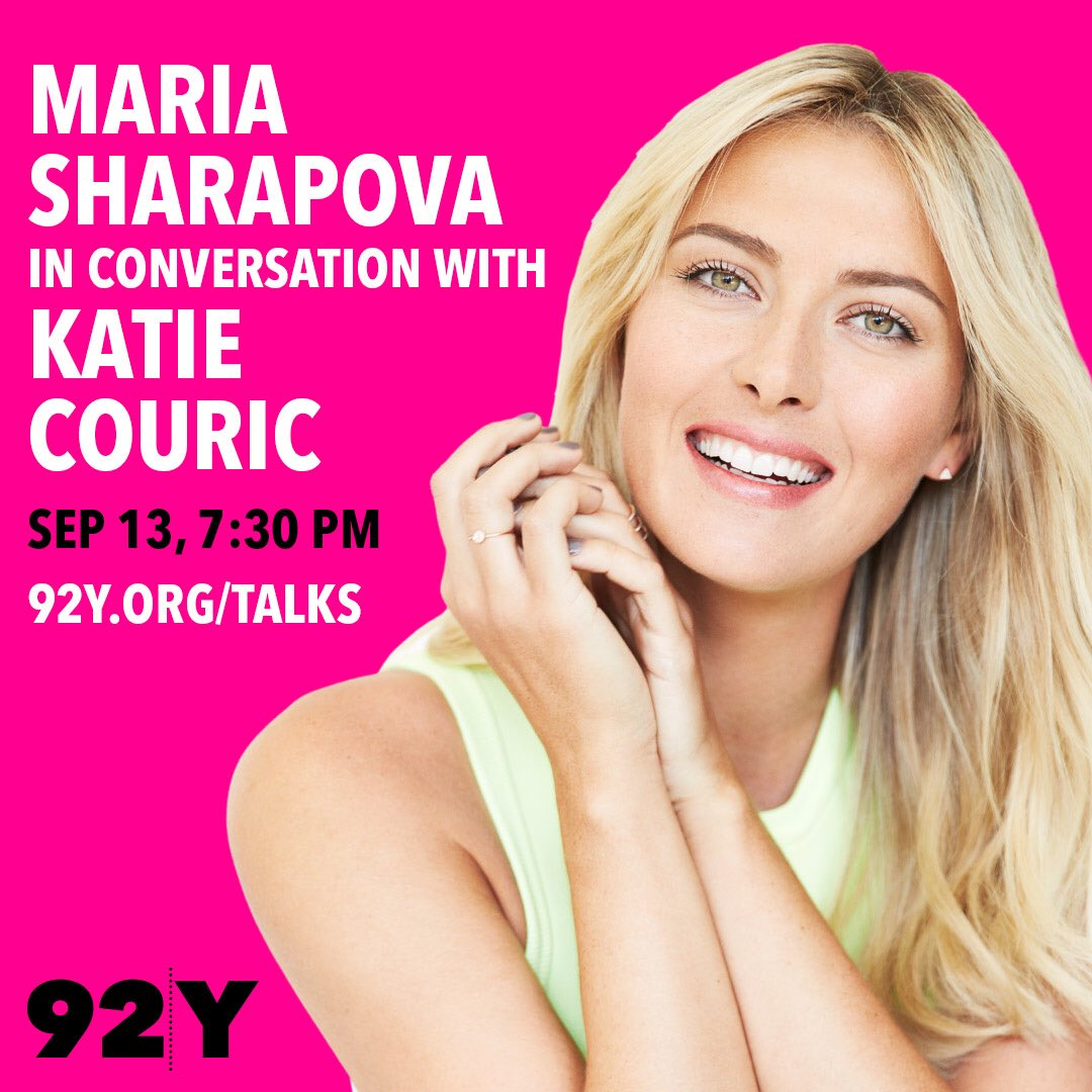 I'll be sitting down with @katiecouric at @92Y for a discussion about #Unstoppable on 9/13: https://t.co/LabMLwqe8b https://t.co/ylFmIIjvru