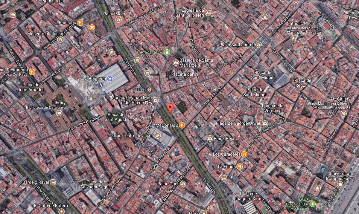 Barcelona police say van jumps sidewalk, causes injuries