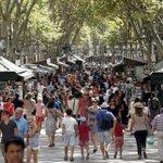 Van crashes into dozens of people in Barcelona - police
