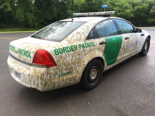 Man denies charge of spraying manure on Border Patrol car