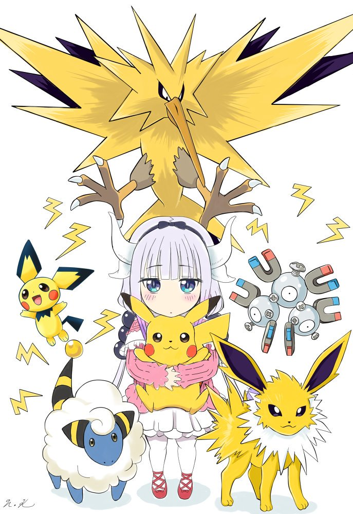 #pokemon #maidragon Electric type Kanna 「コバヤシ…飼ってイイ?」 | Hiro