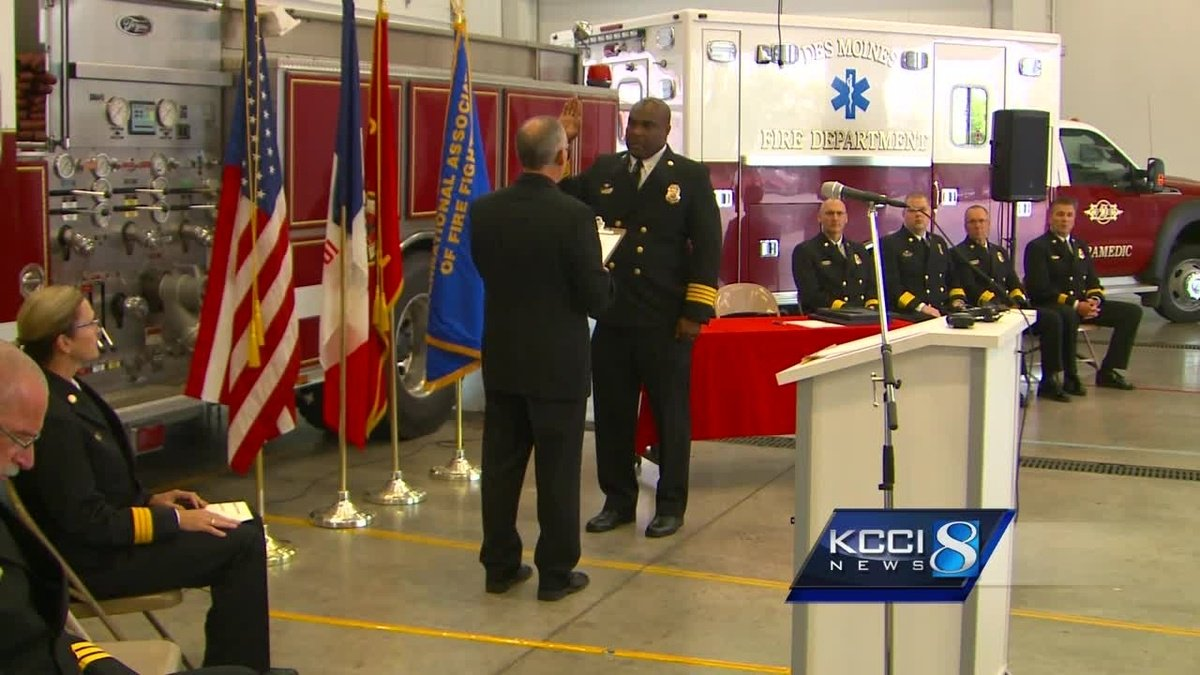 Historic promotions for Des Moines Fire Department