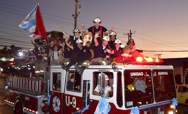 El Cuerpo de Bomberos de Guayaquil celebra 182 años de fundación