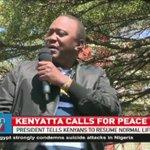 President Uhuru Kenyatta urges Kenyans to coexist and maintain peace