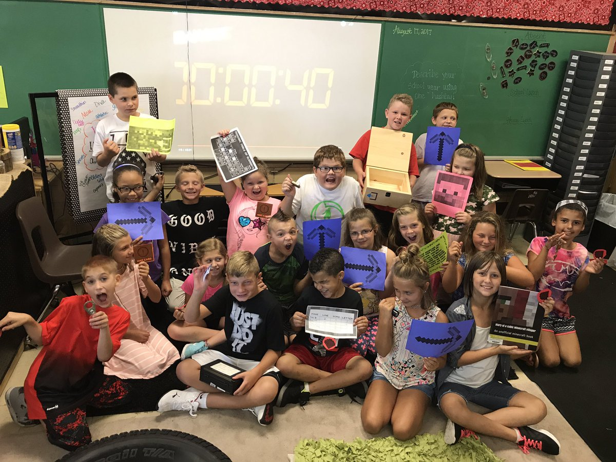 First day Minecraft Breakout with 40 secs to spare! #breakoutedu #hornetsr2 #cr2central https://t.co/lTQSapjaoE