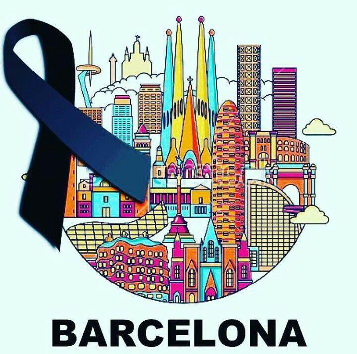 Mis pensamientos y corazón con #Barcelona   NO A LA BARBARIE. #TodosSomosBarcelona #StopTerrorism #StopTerrorismo https://t.co/8Q95iMAnQ5