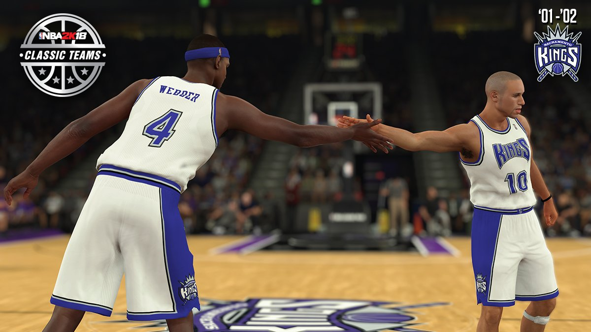The 2001-02 @SacramentoKings are heading to #NBA2K18 as one of the 16 NEW classic teams ft. @realchriswebber! https://t.co/DqWMfGnKdU