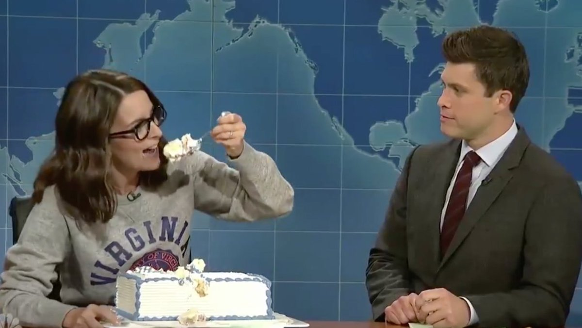 Tina Fey, @sethmeyers and @jimmyfallon return on 'SNL's' 'Weekend Update'
