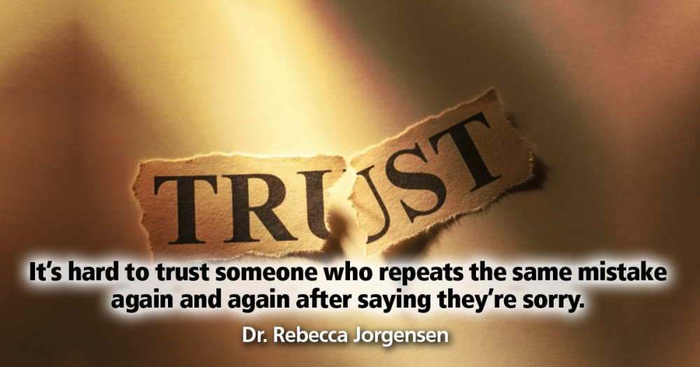 It's hard to #TRUST someone who repeats the same mistake.  #Relationship #Love #EFT https://t.co/N279UKICHN