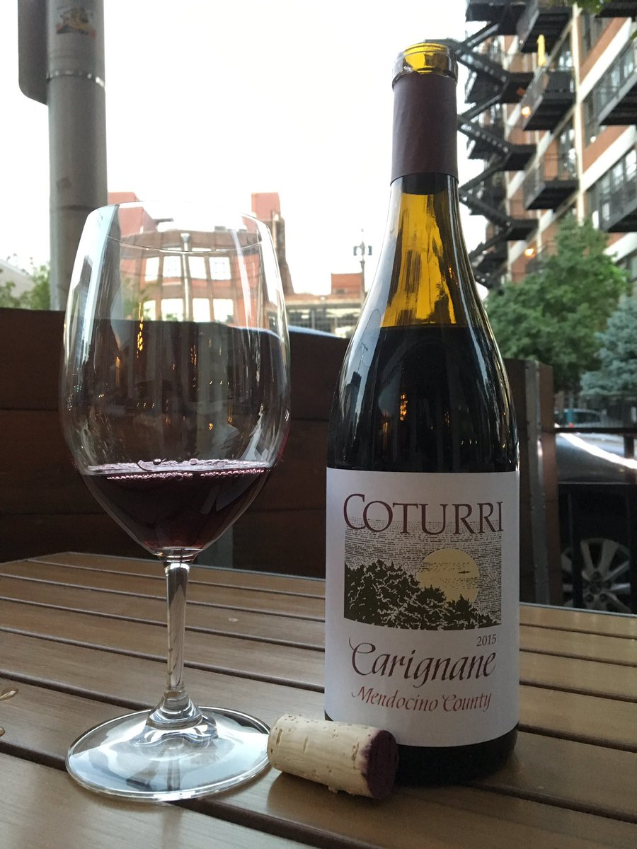 10:00-Close $10 glasses of Mendocino County Carignane from @CoturriWinery! #wine #carignane #mendocino #kansascity
