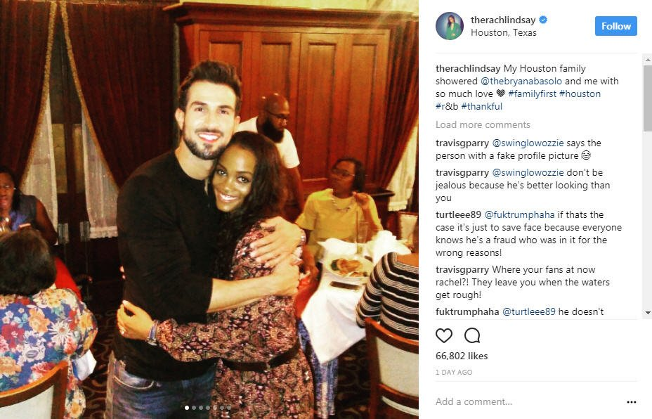 Bachelorette Rachel Lindsay and fiance Bryan Abasolo hang out with family in Houston