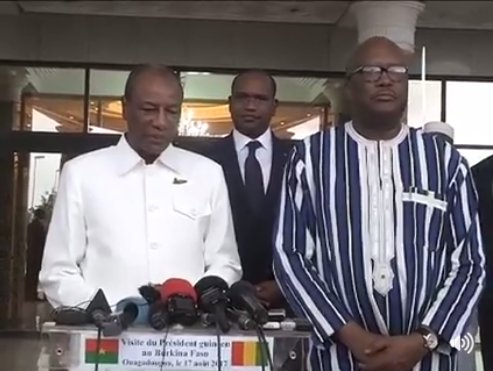 Attentat de Ouagadougou : Alpha Condé s'est rendu au Burkina Faso