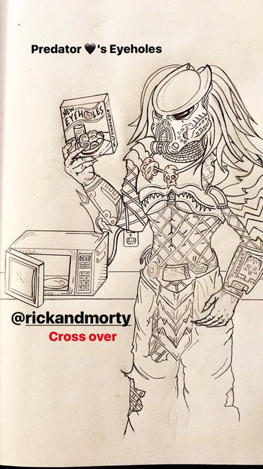 Almost time to shade in my Predator @RickandMorty crossover 🤗 https://t.co/Z0SjPTMyIw