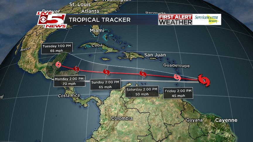 FIRST ALERT WEATHER: Tropical Storm Harvey forms in Atlantic