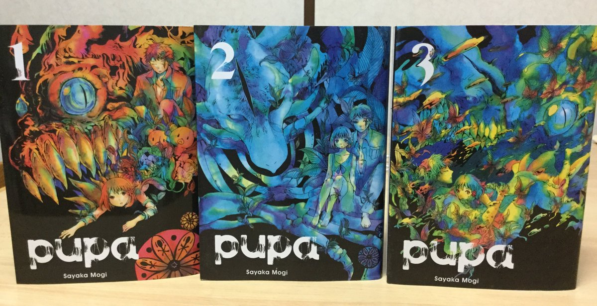 「pupa」は現在秋田書店さんから新装版が全三巻で出ているので「アニメ観たけど3分だしよくわかんねえな」という方は是非。