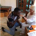 Chineke Oooh! Nigerian man marries a white woman old enough to be his grandmother (PHOTOs).