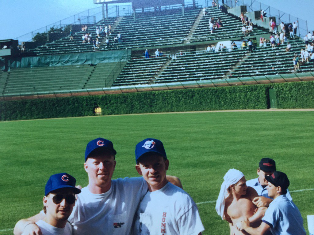 RT @SNETCampbell: Wrigley Field. June 27, 1992. With @blue4404 and @fredcityandy while someone gets arrested. https://t.co/GNFphBWYi4
