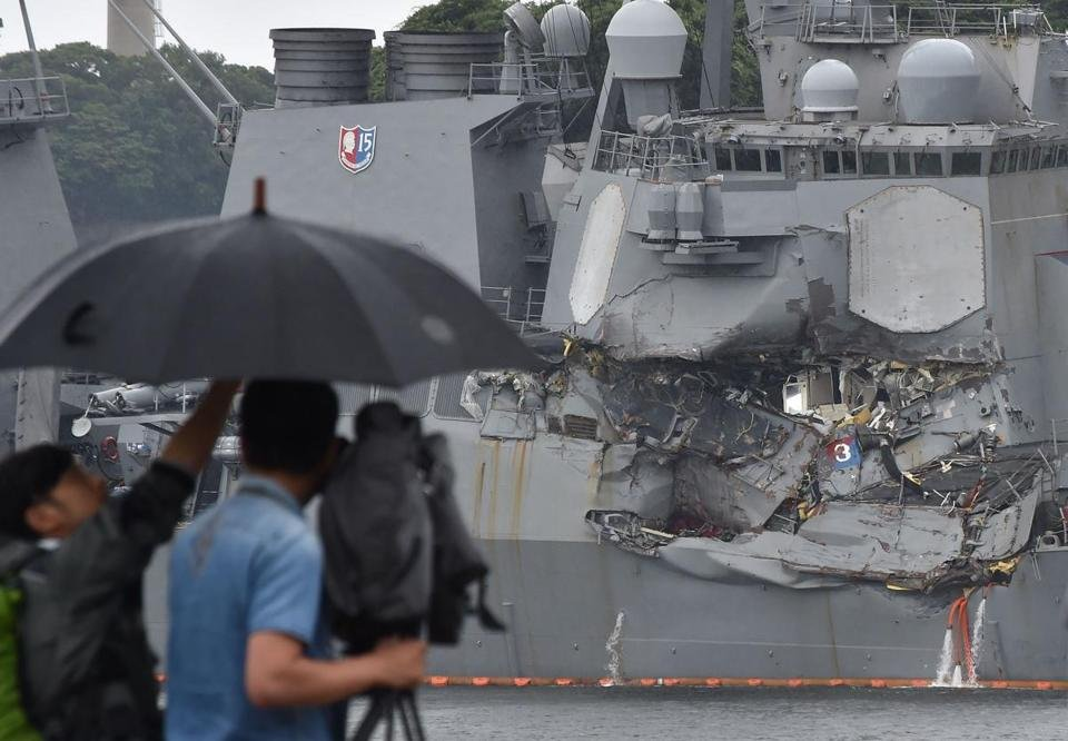 Top two officers on Navy ship in deadly collision off Japan to be relieved of duties