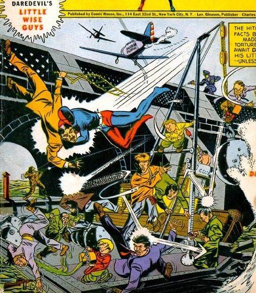 【40,50年代のデアデビル #参考画像 】しかし、50年代に入りヒーローコミックの人気が下火になると、デアデビルはサイ