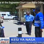 Raila Odinga supporter in Supreme Court causes drama ahead of petition