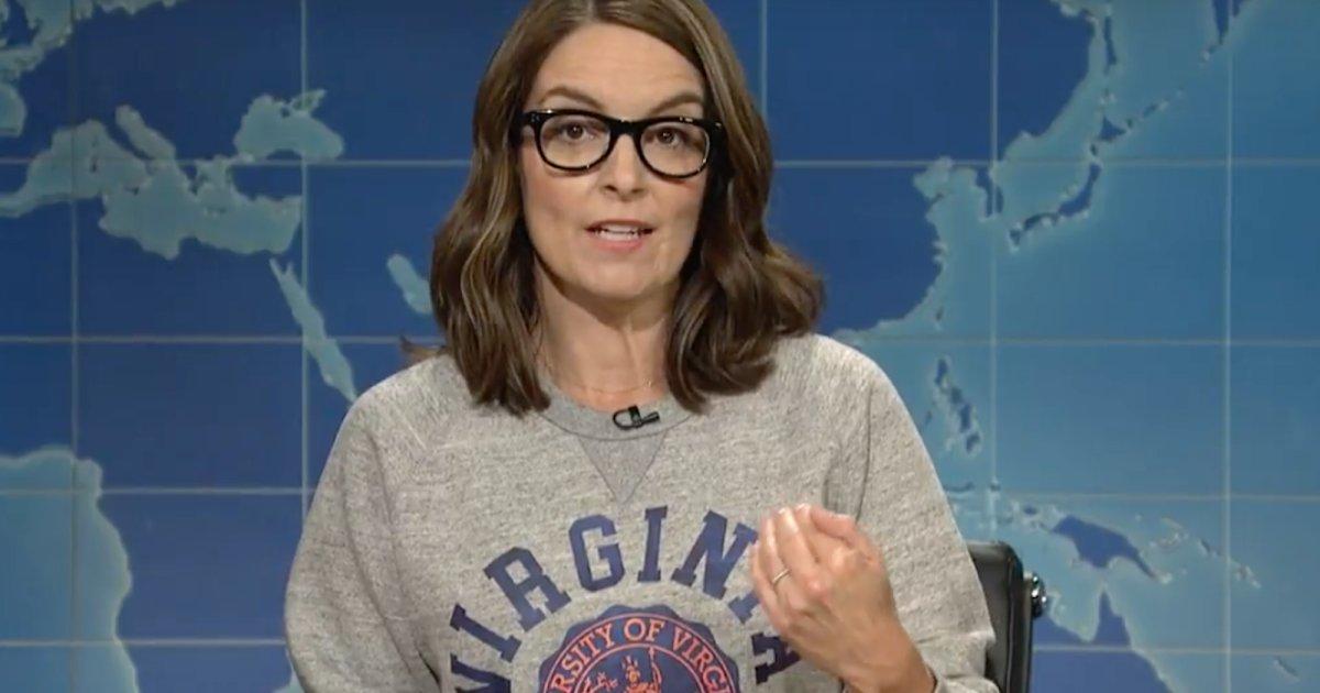 "Tina Fey Blasts Donald Trump's ""Many Sides"" Response to Charlottesville"