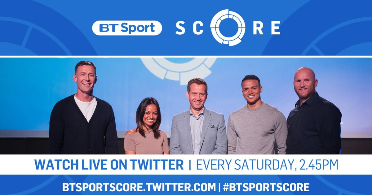 test Twitter Media - BT Sport to stream its Saturday footy results show on Twitter https://t.co/KLyhYivm6e https://t.co/FQ7u4FbJIb