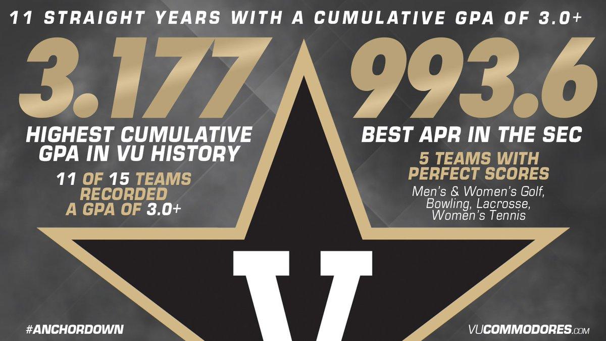 3.177 | Highest GPA in Vanderbilt history! #AnchorDown   https://t.co/mGVKKHw2j3 https://t.co/k3YhZqRFX4