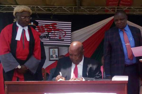 Nyamira Governor Nyagarama starts second term in office