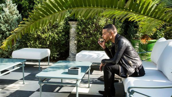 Olivier Rousteing, Balmain's creative director, brings his French style to a fashion army in L.A.