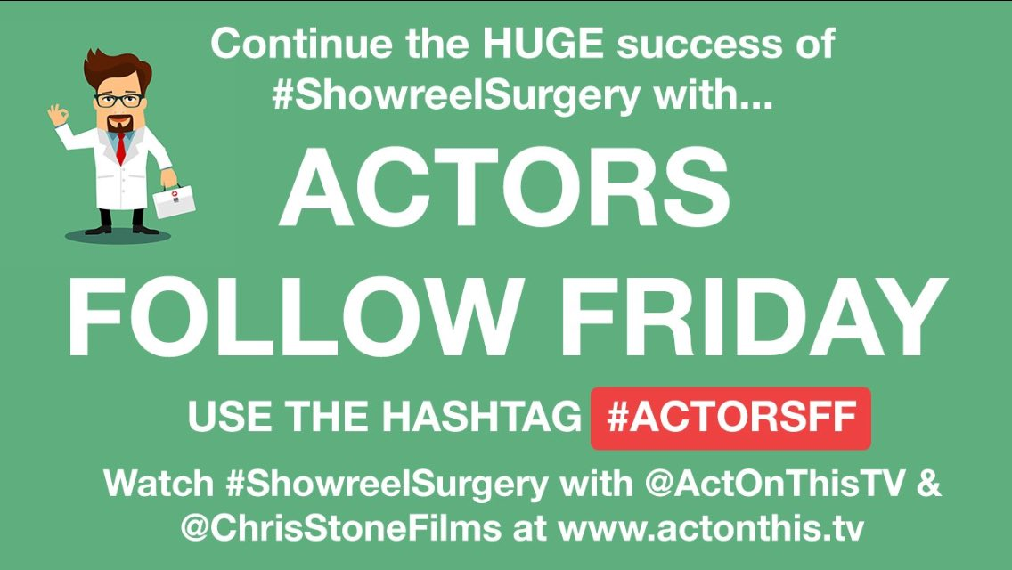 I've been so busy I didn't realise it was Friday! Where does the time go?!?!  #ActorsFF #FollowFriday 🎭 Pls RT https://t.co/v7nnj01JLX