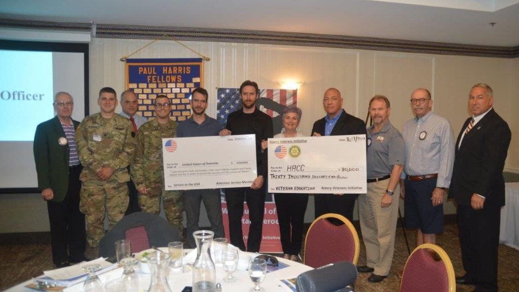Rotary initiative donates $30,000 to veterans' education at HACC