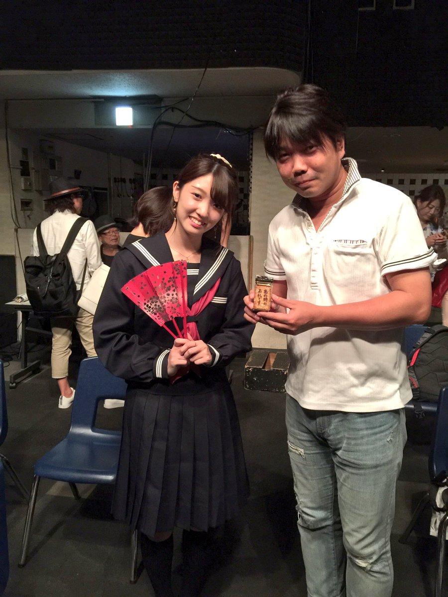 今日のイベントを観に行くキッカケとなった千潤ちゃん☆長丁場のイベントでMCアシと時をかける少女隊で大活躍してました♪ちゃ