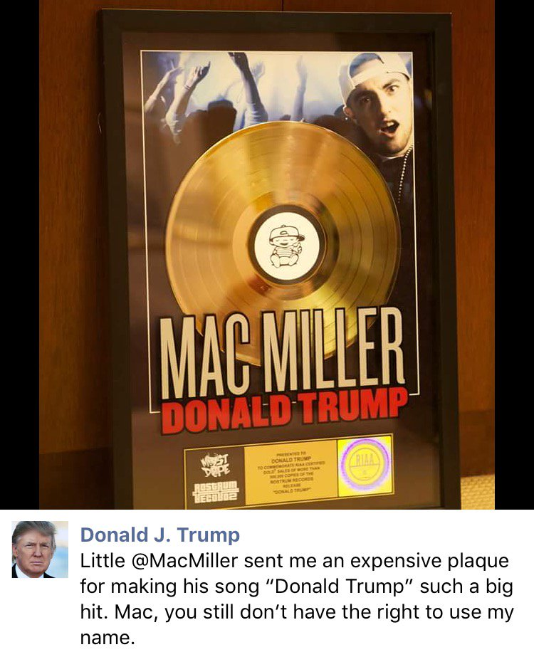 RT @DatPiff: #FlashbackFriday - That time #DonaldTrump went at #MacMiller on #Twitter 😒😂 https://t.co/XU8iZ5xPt7