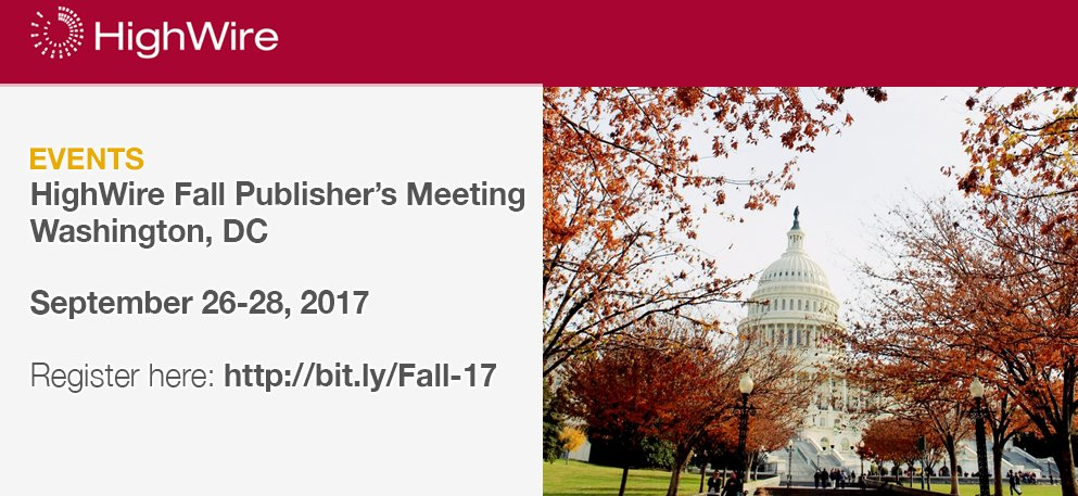 test Twitter Media - HighWire Fall Publishers' Meeting topics include product updates, innovations, analytics, & more. Register here: https://t.co/OMqL1CMPci https://t.co/BrmaNgEL8q