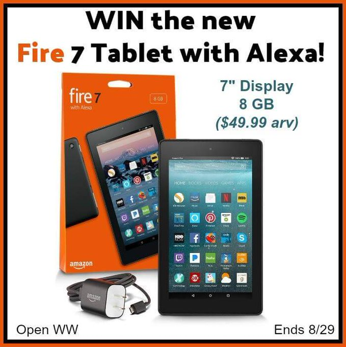 Kindle Fire 7 Tablet with Alexa Giveaway (8/29 WW)
