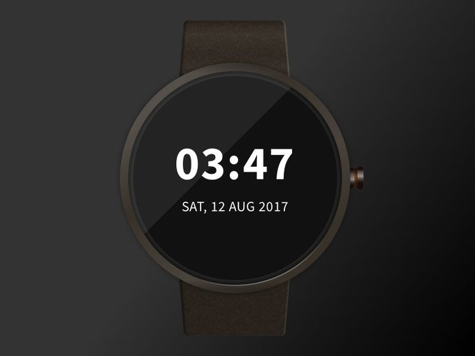 Smartwatch    UI kit by Bharat freebie