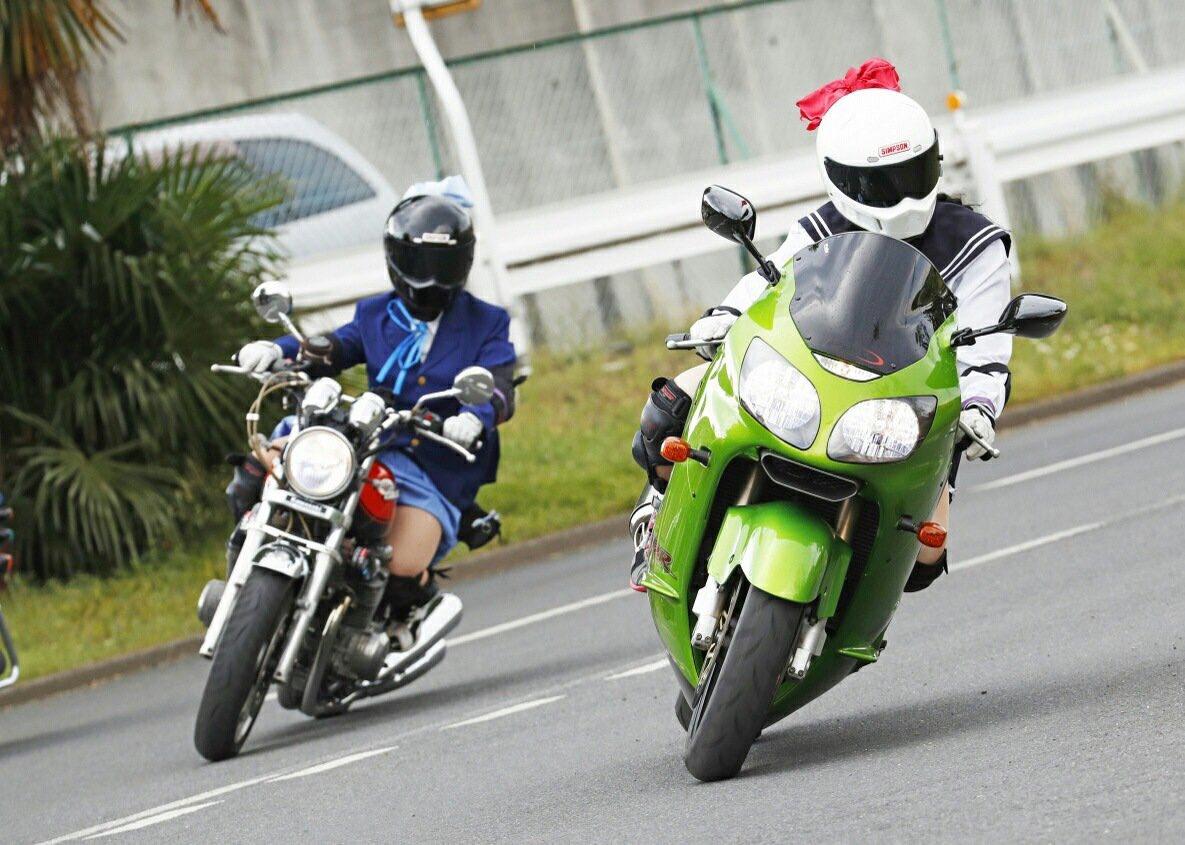 バイクの日なので私のお気に入りの画像(><)#バイクの日#ばくおん#来夢先輩#黒来夢先輩